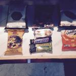 Complementary snacks in room