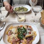 Tortellini aux calamars / gnocchi