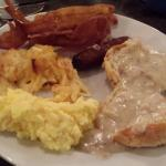some of the buffet breakfast items