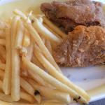 Chicken 'n fries.