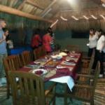 Tiki hut dining table
