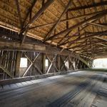 The famous covered bridges are close to the B & B.