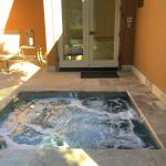 Jacuzzi dipping pool outside the room in the Merlot unit (#35)