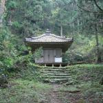 A small temple on the train to the Jomon Village Museum