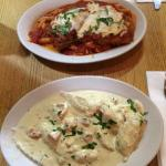 Chicken Parm and Lobster Ravioli - so good!