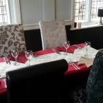 The restaurant is now finished and looks superb with its new comfortable chairs