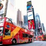 Bus in Time Square