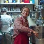 Greg hard at work serving up hot soup !