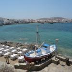 View of Mykonos harbour