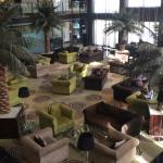 The hotel Lobby from the first floor