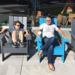 Sitting outside Starbuck