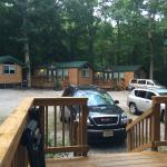 View of other cabins from our cabin