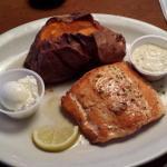 Sweet potato bigger than the salmon portion