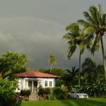 Hale Ulu Lulu with a rainbow above