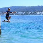 Jump off the Mitches Jetty