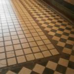 Bellissimo pavimento nella Villa dei Misteri