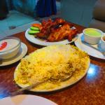 great chicken tikka, biryani rice