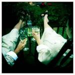 Wine on the Balsam porch