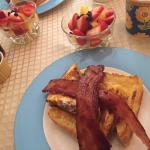 Stuffed French Toast & Bacon