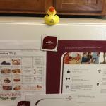 Refrigerator dinner schedule