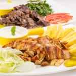 Chicken and Beef Shawarma Plate