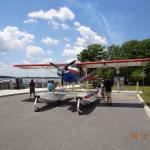 Seaplanes land here and park up on top of the ramp right in front of you.