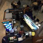 In Food Court under escalator
