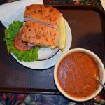 Ham and Swiss cheese and tomato soup-11-18-15