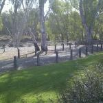 View from our room at Echuca Hotel.