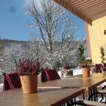 Restaurantterrasse im Winter