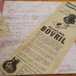 Breakfast placemat - and I love Bovril!