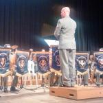 Palco (apresentação da Banda da Brigada)