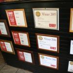 Winning Awards from 2002 -2014