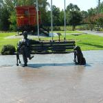 Caboose and Bronze Statue of Tom Ball