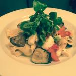 Roasted vegetable & mozzarella fettuccini
