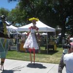 Stiltwalker at the Paso Artsfest!