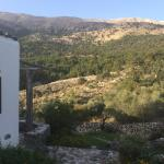 View from our terrace towards the mountains