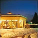 Restaurant hiver vue de l'extérieur