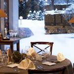 Restaurant hiver vue de l'intérieur