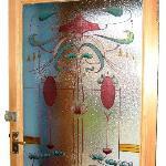 Hand Painted Glass Door