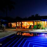 Our Pool and Bar at Night