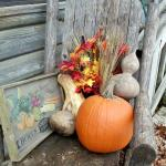 Fall decor on the grounds