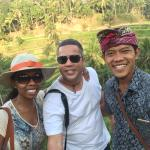 Myself, my wife and out tour guide Gusti at the rice terraces of Tegallalang