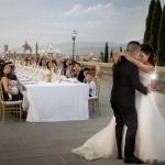 A wedding on the veranda of the Villa La Vedetta.