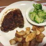 Sirloin steak dinner option, $11.99 Denny's Yemassee, SC