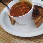Homemade soup 'n sammich.