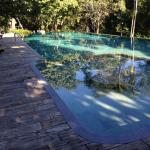infinty saltwater pool, great for a dip after golf