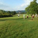 on the golf course