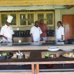 Staff waiting on their lunch customers