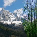 遊歩道からのモンブラン峰。